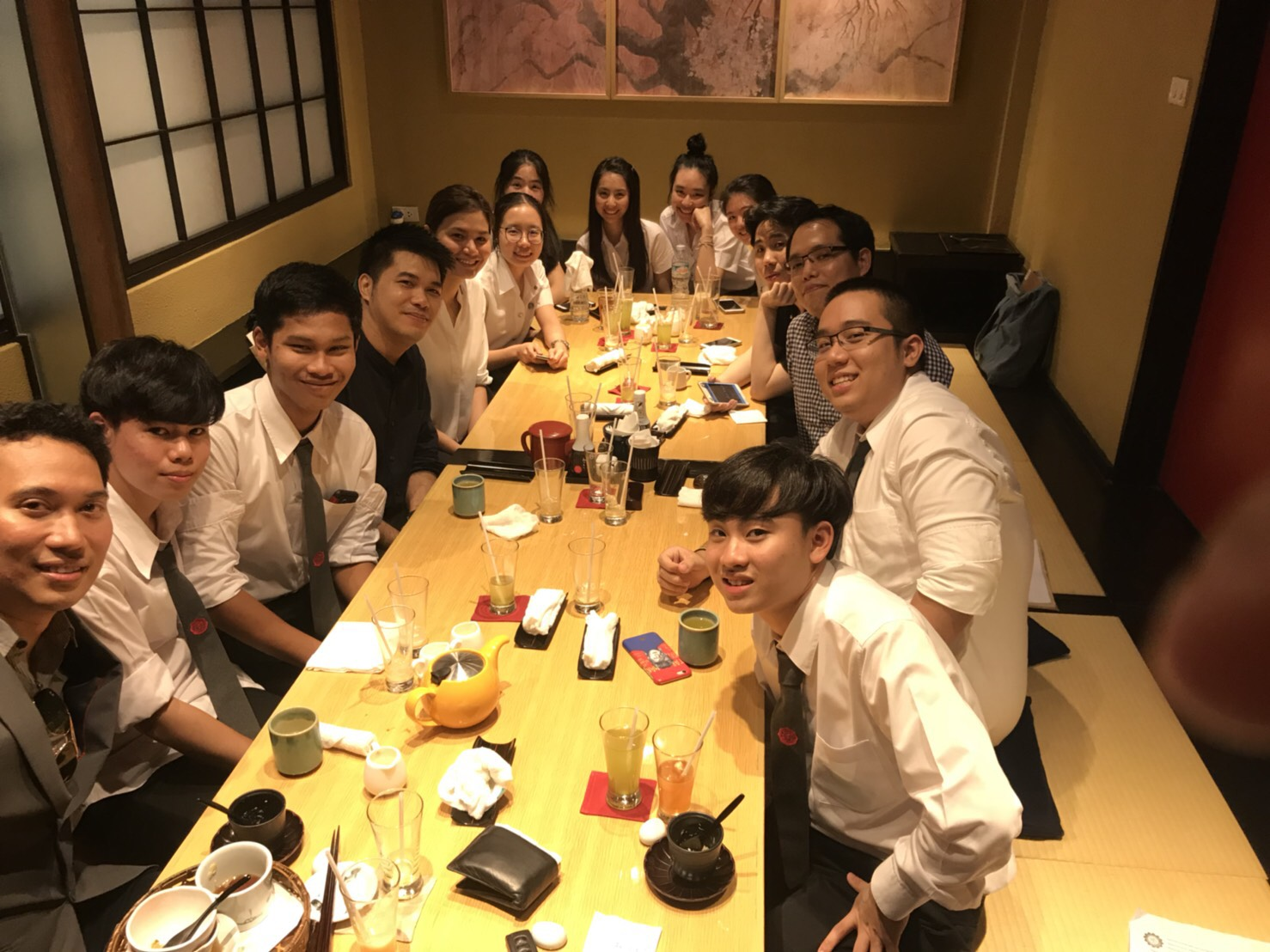 Lunch with 18th students 11/10/18